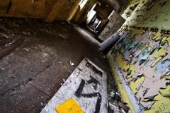 old hospital corridor